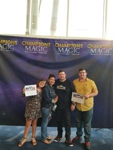 Johnathan Butler attended Champions of Magic - Saturday on Jun 30th 2018 via VetTix