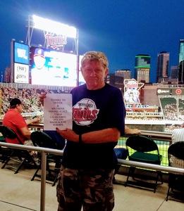 Wayne attended Minnesota Twins vs. Cleveland Indians - MLB on Jul 30th 2018 via VetTix