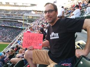 Chad attended Minnesota Twins vs. Cleveland Indians - MLB on Jul 30th 2018 via VetTix