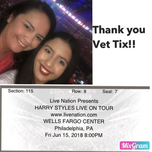 Jaime attended Harry Styles Live on Tour on Jun 15th 2018 via VetTix