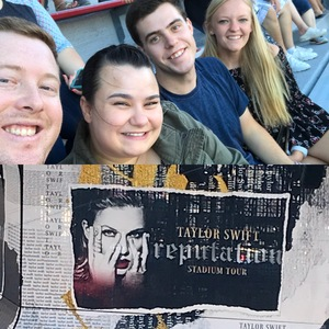 Robert attended Taylor Swift Reputation Stadium Tour on Jul 7th 2018 via VetTix