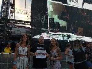 Jeff attended Taylor Swift Reputation Stadium Tour on Jul 11th 2018 via VetTix