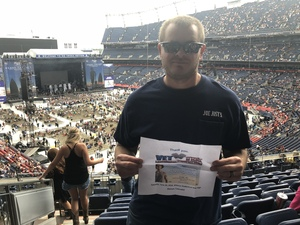 Henry attended Kenny Chesney: Trip Around the Sun Tour on Jun 30th 2018 via VetTix