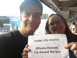 Blake attended Kenny Chesney: Trip Around the Sun Tour on Jun 30th 2018 via VetTix