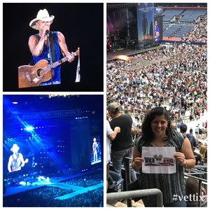Lilian attended Kenny Chesney: Trip Around the Sun Tour on Jun 30th 2018 via VetTix