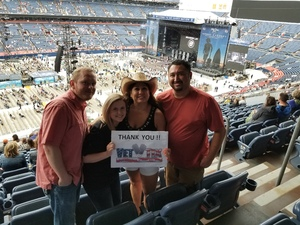 Angelo attended Kenny Chesney: Trip Around the Sun Tour on Jun 30th 2018 via VetTix