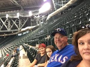 Doug attended Arizona Diamondbacks vs. Texas Rangers - MLB on Jul 31st 2018 via VetTix