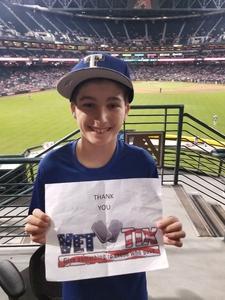 Gary attended Arizona Diamondbacks vs. Texas Rangers - MLB on Jul 31st 2018 via VetTix