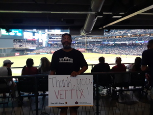jeffery attended Arizona Diamondbacks vs. San Francisco Giants - MLB on Aug 4th 2018 via VetTix