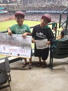 Lorenzo attended Arizona Diamondbacks vs. San Francisco Giants - MLB on Aug 4th 2018 via VetTix