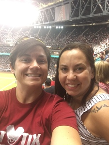 Ashley attended Arizona Diamondbacks vs. San Francisco Giants - MLB on Aug 4th 2018 via VetTix