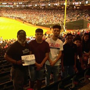 Perry attended Arizona Diamondbacks vs. Philadelphia Phillies - MLB on Aug 7th 2018 via VetTix