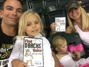 Timothy attended Arizona Diamondbacks vs. Philadelphia Phillies - MLB on Aug 7th 2018 via VetTix