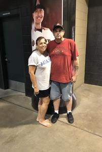Gilbert & Maruja attended Arizona Diamondbacks vs. Philadelphia Phillies - MLB on Aug 7th 2018 via VetTix