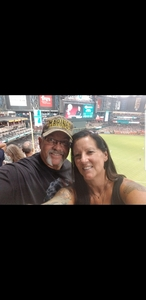 Eileen attended Arizona Diamondbacks vs. Philadelphia Phillies - MLB on Aug 7th 2018 via VetTix