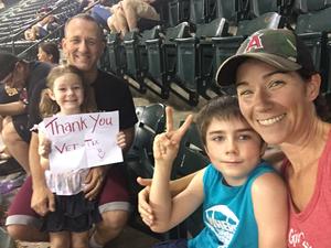 SSgt Robert Martin attended Arizona Diamondbacks vs. Los Angeles Angels - MLB on Aug 22nd 2018 via VetTix