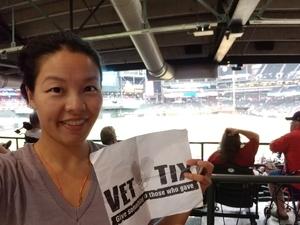 SALLY attended Arizona Diamondbacks vs. Los Angeles Angels - MLB on Aug 22nd 2018 via VetTix