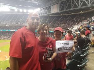 Kevin attended Arizona Diamondbacks vs. Los Angeles Angels - MLB on Aug 22nd 2018 via VetTix