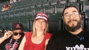 Mel Lo attended Arizona Diamondbacks vs. Los Angeles Angels - MLB on Aug 22nd 2018 via VetTix