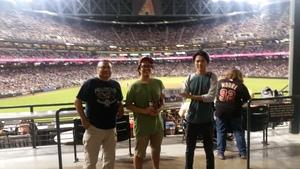 Wil attended Arizona Diamondbacks vs. Seattle Mariners - MLB on Aug 24th 2018 via VetTix