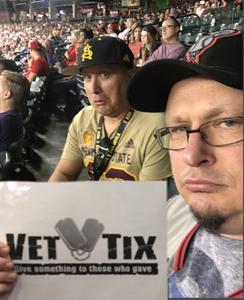 Bradlee attended Arizona Diamondbacks vs. Seattle Mariners - MLB on Aug 24th 2018 via VetTix