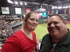 Warren attended Arizona Diamondbacks vs. San Diego Padres - MLB on Sep 3rd 2018 via VetTix