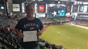 Bill attended Arizona Diamondbacks vs. San Diego Padres - MLB on Sep 3rd 2018 via VetTix