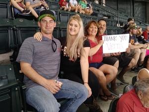 Randall attended Arizona Diamondbacks vs. San Diego Padres - MLB on Sep 3rd 2018 via VetTix