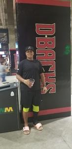 Calvin attended Arizona Diamondbacks vs. San Diego Padres - MLB on Sep 3rd 2018 via VetTix