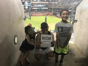 Eric attended Arizona Diamondbacks vs. San Diego Padres - MLB on Sep 3rd 2018 via VetTix