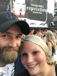 Samantha attended Taylor Swift Reputation Stadium Tour on Jul 27th 2018 via VetTix