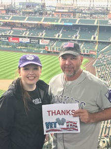 Brandon attended Colorado Rockies vs. Seattle Mariners - MLB - Military Appreciation on Jul 15th 2018 via VetTix