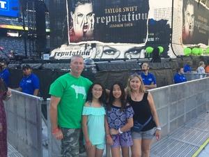 Peter attended Taylor Swift Reputation Stadium Tour on Jul 20th 2018 via VetTix