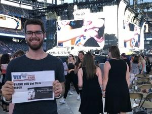 Joe C attended Taylor Swift Reputation Stadium Tour on Jul 20th 2018 via VetTix