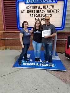 Origen attended Rascal Flatts: Back To Us Tour on Jul 6th 2018 via VetTix