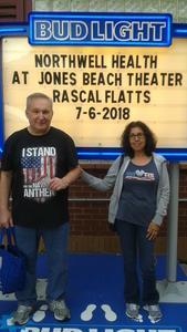Bill & Mery attended Rascal Flatts: Back To Us Tour on Jul 6th 2018 via VetTix