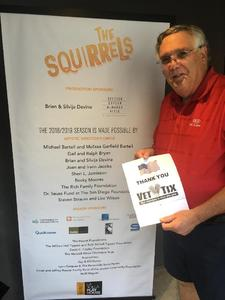 Howard attended The Squirrels on Jul 6th 2018 via VetTix