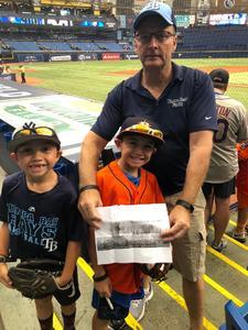 RANDY attended Tampa Bay Rays vs. Houston Astros - MLB on Jul 1st 2018 via VetTix