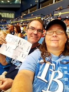 Brian Rowe attended Tampa Bay Rays vs. Houston Astros - MLB on Jul 1st 2018 via VetTix