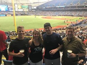Christopher attended Tampa Bay Rays vs. Houston Astros - MLB on Jul 1st 2018 via VetTix