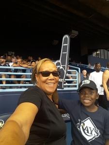 Kim attended Tampa Bay Rays vs. Houston Astros - MLB on Jul 1st 2018 via VetTix