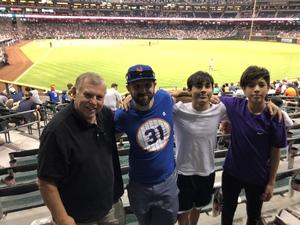 Thomas attended Arizona Diamondbacks vs. San Francisco Giants - MLB on Jul 1st 2018 via VetTix