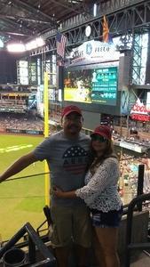 JULIO attended Arizona Diamondbacks vs. San Francisco Giants - MLB on Jul 1st 2018 via VetTix