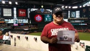 Greg attended Arizona Diamondbacks vs. San Diego Padres - MLB on Jul 5th 2018 via VetTix
