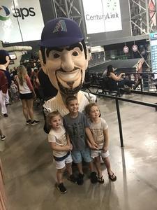 Anthony attended Arizona Diamondbacks vs. San Diego Padres - MLB on Jul 5th 2018 via VetTix