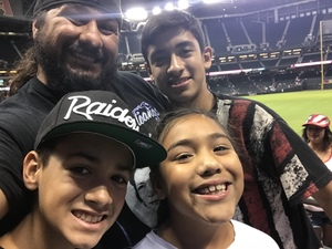 Sergio attended Arizona Diamondbacks vs. San Diego Padres - MLB on Jul 5th 2018 via VetTix