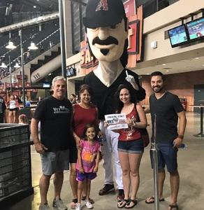 Stephen C attended Arizona Diamondbacks vs. San Diego Padres - MLB on Jul 5th 2018 via VetTix