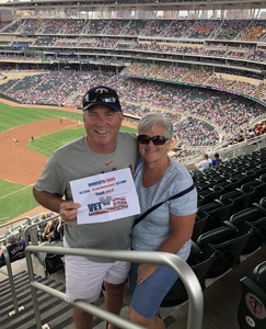 Denny attended Minnesota Twins vs. Cleveland Indians - MLB on Aug 1st 2018 via VetTix