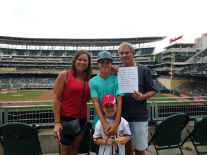 gene attended Minnesota Twins vs. Cleveland Indians - MLB on Aug 1st 2018 via VetTix