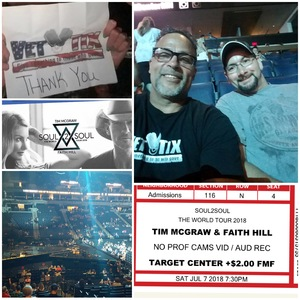Click To Read More Feedback from Soul2Soul - Faith Hill and Tim McGraw